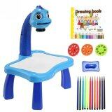 SOKANO Kid Drawing Table With Projection, Light and Music (Free Drawing Book and Colouring Pen)- Blue