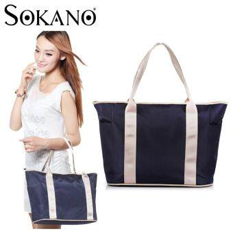 SOKANO MB1001 Multifunctional Baby Diaper Nappy Storage Organizer Tote Bag Handbag Mummy Bag - Dark Blue