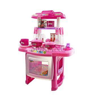SOKANO Mini Kitchen Fun Playset With Full Utensils Set- Pink