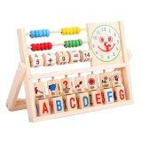 Sokano Multifunctional Educational Wooden Toy With Number and Alphabet Learning