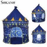 (RAYA 2019) SOKANO Portable Folding Kids Play Tent Castle Cubby House - Prince(Blue)
