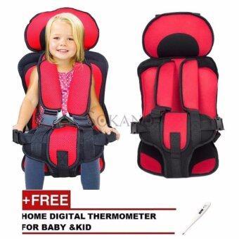 SOKANO Premium Baby Child Kid Safety Car Seat Cushion Red Free Thermometer