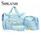 (RAYA 2019) SOKANO Premium Cutie Large Capacity Diaper Bag 4 pcs Set- Light Blue
