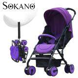 (RAYA 2019) SOKANO Premium Lightweight Compact Foldable Stroller - Purple