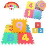 (RAYA 2019) SOKANO TOY 29cm x 29cm EVA Foam Kid and baby Crawling Puzzle Play Mat- Number Design (10 Pcs)