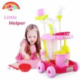 (RAYA 2019) SOKANO TOY 667 XL Size Little Helper Housekeeping Game with Trolley - Pink
