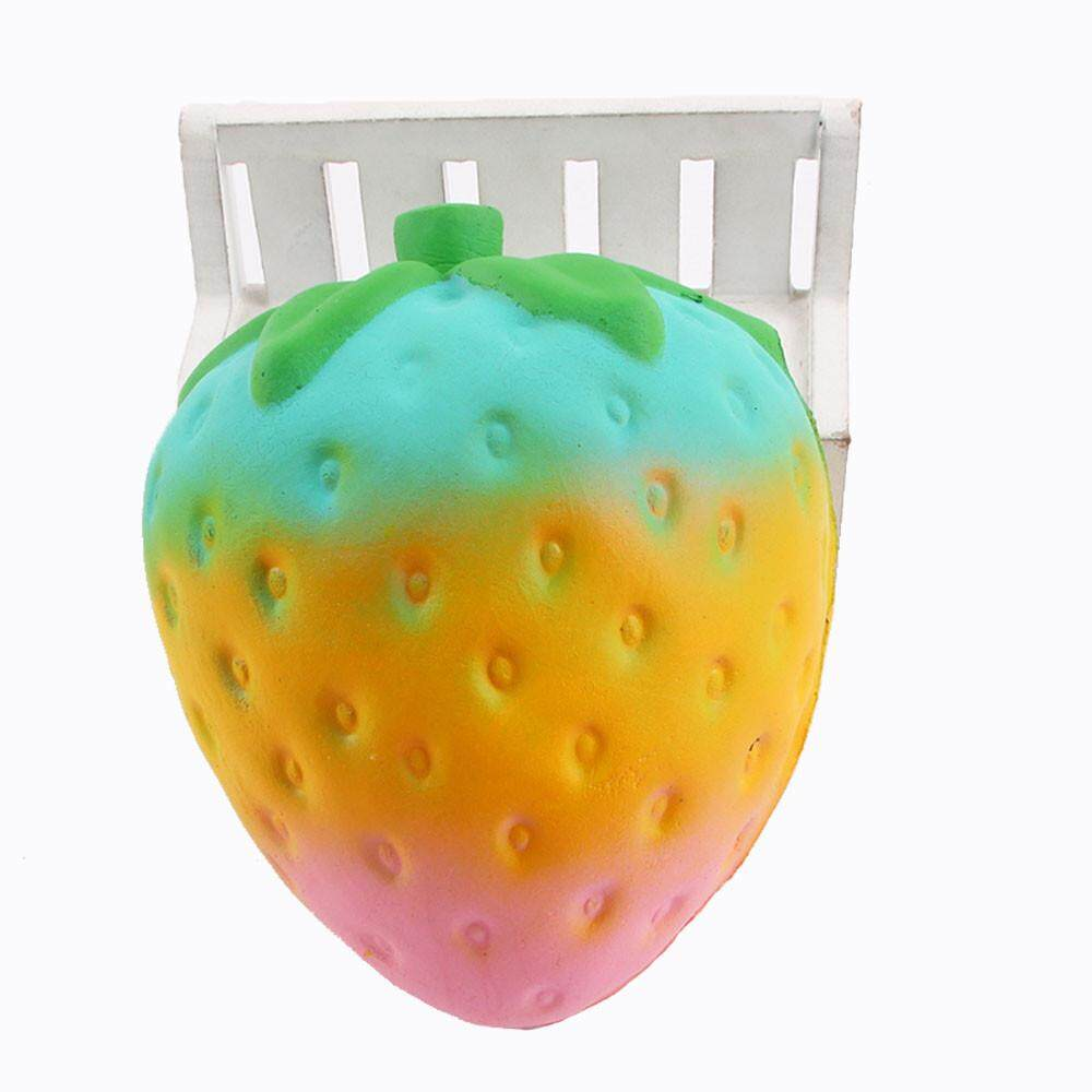 Detail Gambar Squishy Squeeze Jumbo Stress Stretch Strawberry Scented Slow Rising Toys Gifts - intl Terbaru