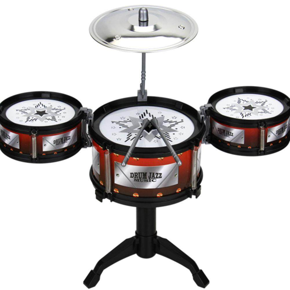 Star Mall Children Jazz Drum Toy Early Educational Simulation Drum Kit Music Instrument Christmas Gift Style Drums - intl