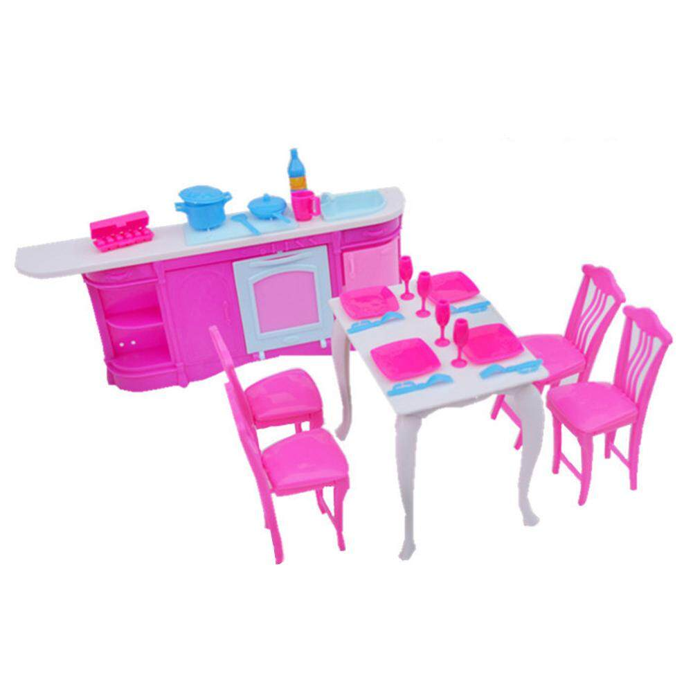 Star Mall Dolls Accessories Pretend Play Furniture Set Toys for Barbie Dolls as Xmas Gifts for Kids Style kitchen - intl