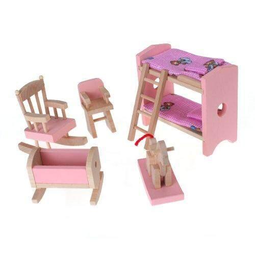 Star Mall Simulation Diy Small Furniture (Adult Bedroom, Children's Bedroom, Bathroom, Kitchen) Children's Bedroom - intl