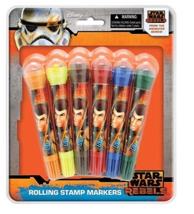 Star Wars 6PCS Marker With Stamp Set