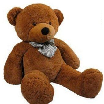 Harga Stuffed Animal Teddy Bear Plush Soft Toy 80CM Huge Soft Toy DarkBrown