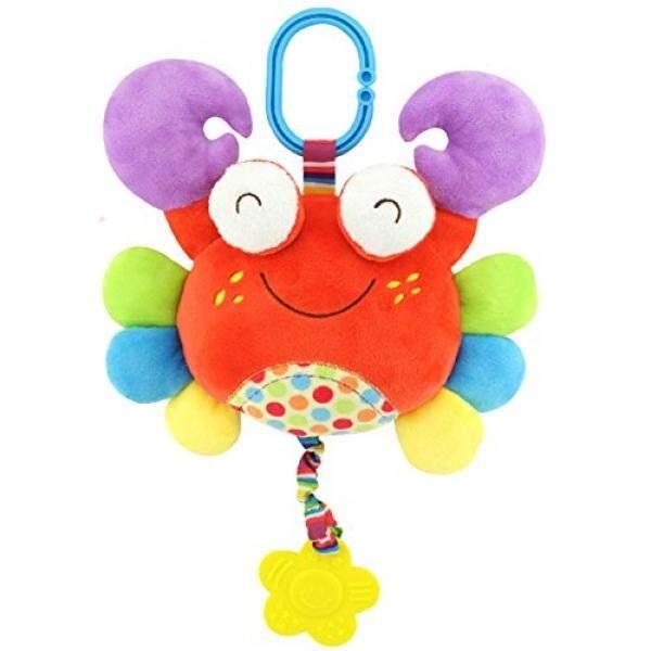 Stuffed Mewah Mainan Tarik Teether Cermin Lonceng Lingkaran Rattles Mainan Animal Crab Mainan-Internasional