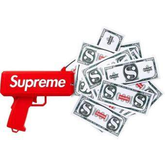 Harga Supreme Cash Cannon Money Gun with 100Pcs Paper Playing MoneyMake It Rain Money Gun Red Fashion Toy Gun
