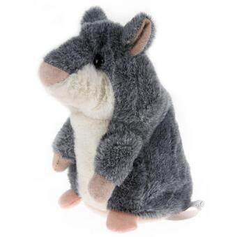 Talking Hamster Kids Plush Toy Gray