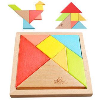 Tangram jigsaw puzzle intelligence puzzle children's classic toys students creative geometric shape building blocks educational jigsaw puzzle