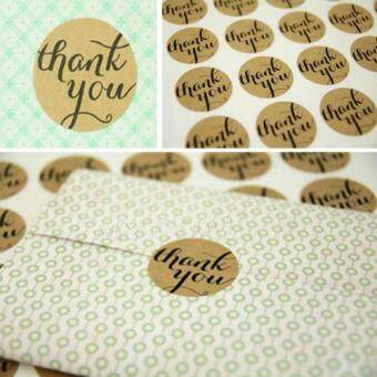 Thank You Craft Packaging Seals Kraft Sticker Labels Wedding Favours Toppers