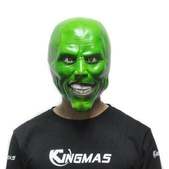 "Harga ""The Mask"" Jim Carrey Latex Masks Scary Movie Cosplay for Halloween"