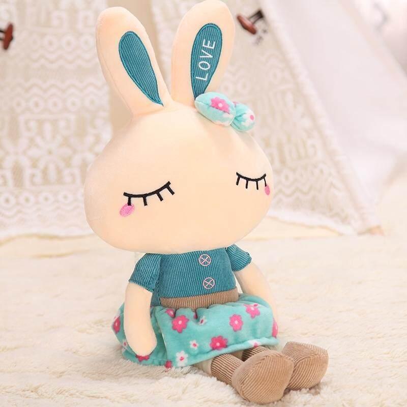 Harga Spesial Mempromosikan Penjualan 46 Cm Ukuran Ini Tidak Pernah Disajikan Lucu Rabbit Floss Mainan Kelinci Putih Kecil rag Doll Mainan Sofa Bantal Gambar (Biru Rok) -Internasional