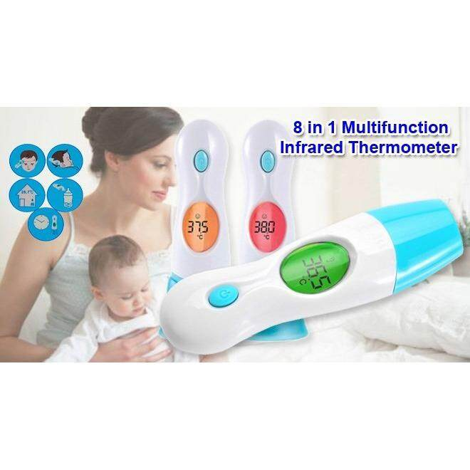Thermometer 8 in 1 Multi Function Baby Adult Fever Ear Forehead Body