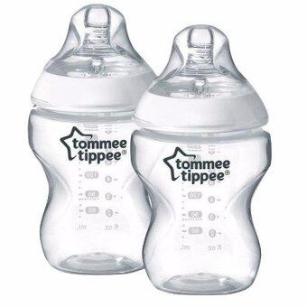 Harga Tommee Tippee Closer to Nature 9oz Twin Clear Bottle (Loose)