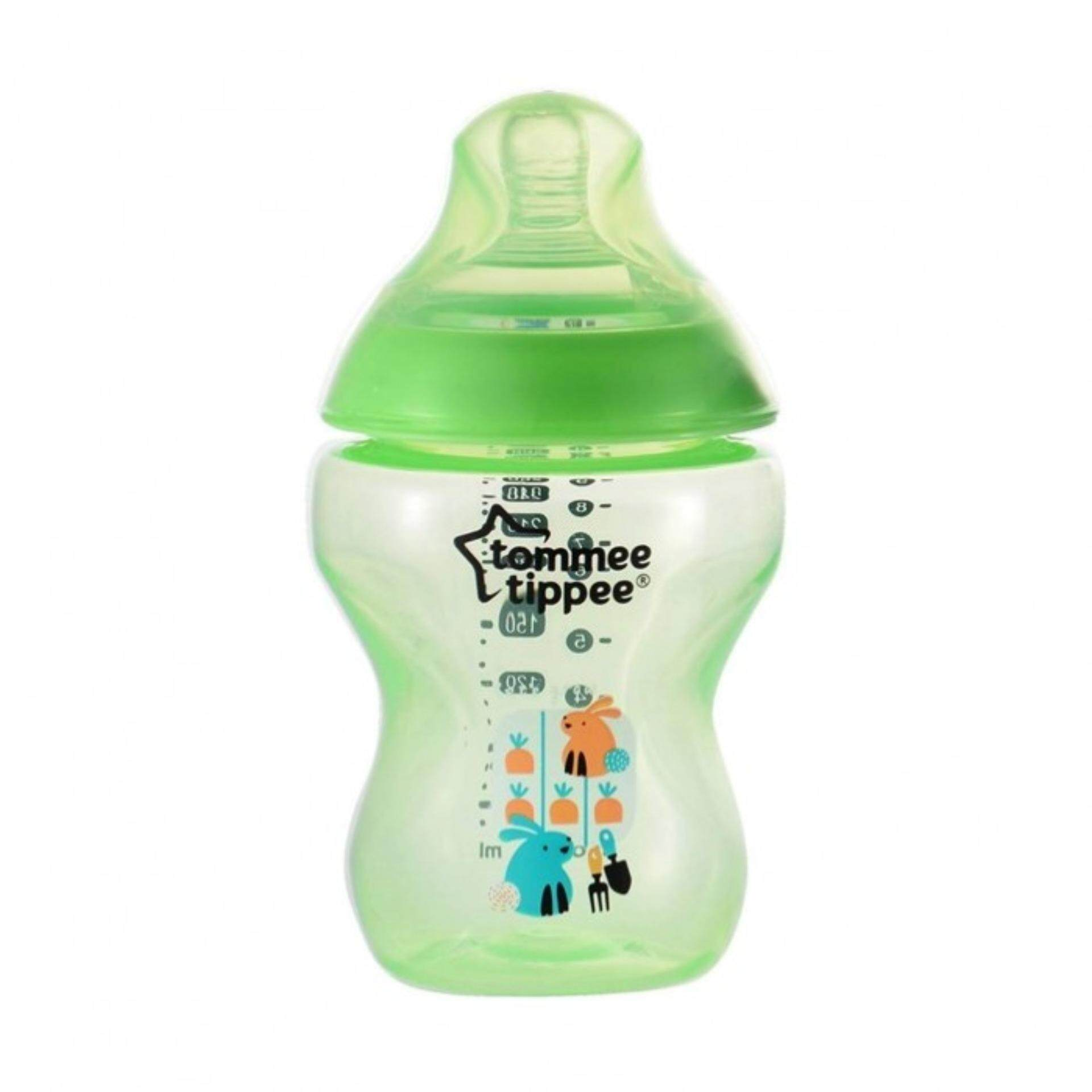 Tommee Tippee Baby Scissor With Cover Ctn Decorated Tinted 260ml 9oz Bottle Single