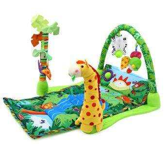 Harga Toys Games Activity Gym Playmats Baby Forest Gym Music Game BlanketFitness Rack Floor Crawl Play Mat Cushion For Kids(Green)