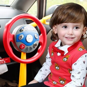 Harga Toys Games Electronic Learning Toys Electronic Driver BackseatDriver Car Seat Steering Wheel Infant Baby Kids Toy