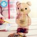 Transparent Cartoon Animals Stole Coin Money Box Money Saving BoxMoneybox Large Piggy Bank Gifts for Kids 23.7*13.3 CM (BearKhaki)
