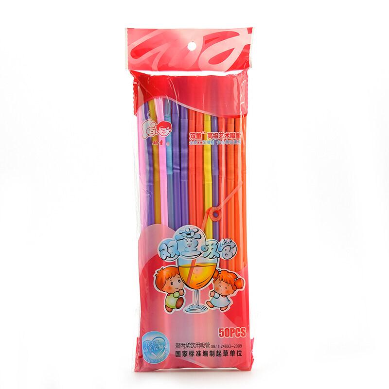 Hình ảnh Transparent Multicolor Drinking Straws 100pcs Multi-Color - intl
