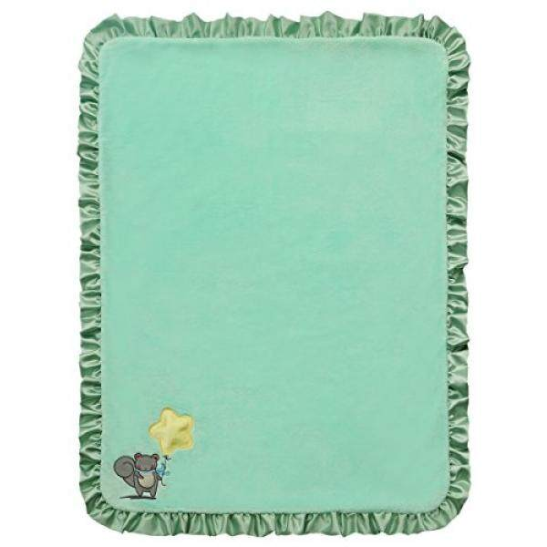 Twinkles of Joy Light Up and Musical Boys Receiving Baby Blanket, Green Star on a String - intl