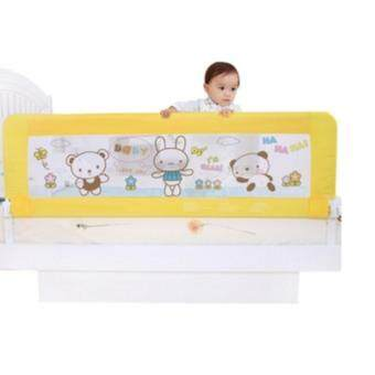 Harga Twomother Yellow & Bear Baby Bed Embedded Bed Rails Infant Bed Guard Rail Fence 1.5m