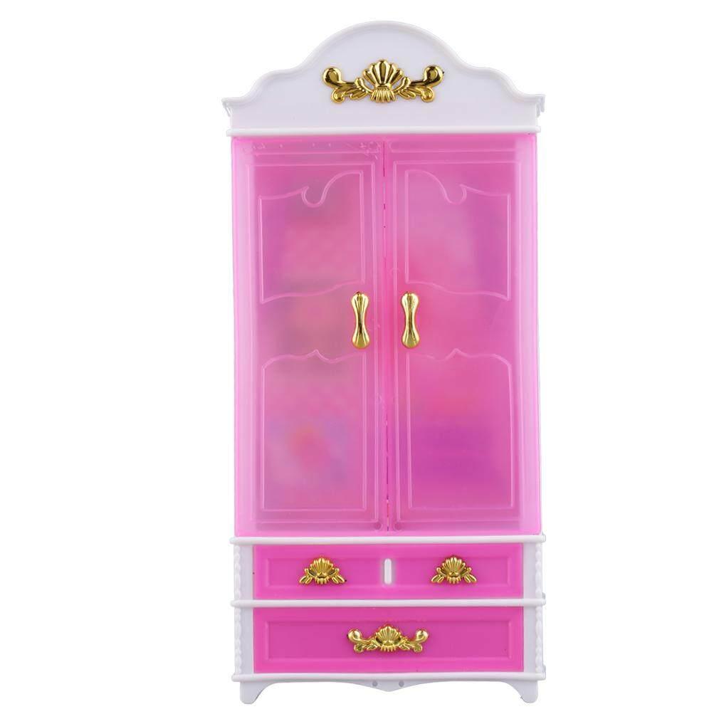 Uinn Merah Muda Lemari Lemari untuk Putri Doll Rumah Bedroom Furniture Miniatur-Internasional