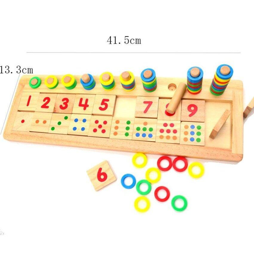 Uncle Sam Montessori Rings Dominos Children Preschool Teaching Aidscounting And Stacking Board Wooden .