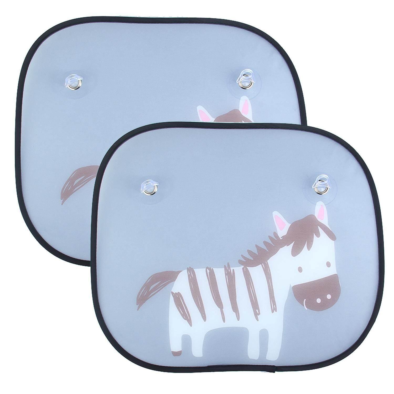 Wanxinkeji 2 Pcs Mobil Jendela Matahari Bayangan-Kobwa Universal Lucu Animal Desain Pemasangan Yang Mudah Matahari Visors dengan Pengisap Cups menghalangi Sinar UV Yang Berbahaya Sinar Matahari Panas untuk Bayi, anak-anak, Hewan Peliharaan-Internasional