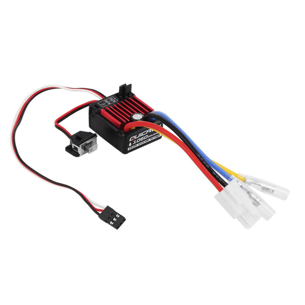 Waterproof Brushed 60A Electronic Speed Controller ESC 1060 for RC 1/10 Car - intl