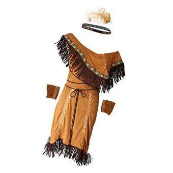 Woman Native American Indian Princess Fancy Dress Cosplay CostumeSuit M - 3
