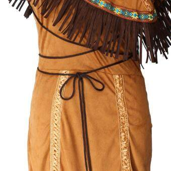 Woman Native American Indian Princess Fancy Dress Cosplay CostumeSuit M - 5