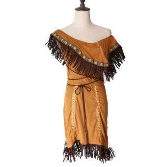 Woman Native American Indian Princess Fancy Dress Cosplay CostumeSuit M - 4