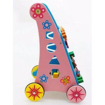 Wooden Baby Walker Toddler Stroller and Toys Activity Center - 3
