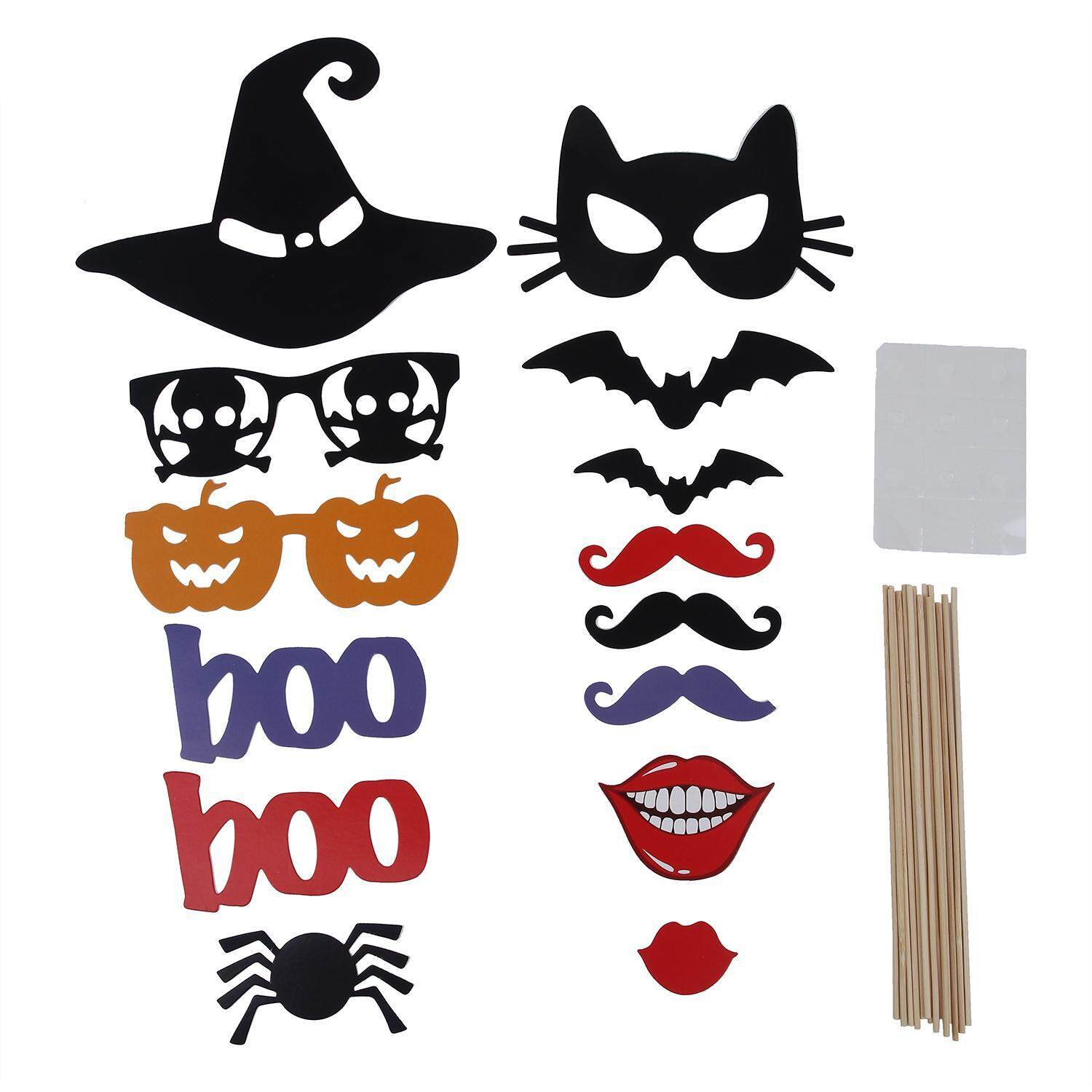 wuzeyu Photo Booth Props DIY Kit For Halloween Christmas Wedding Birthday Graduation Party,Photobooth Dress-up Accessories Party Favors,58 Set - intl