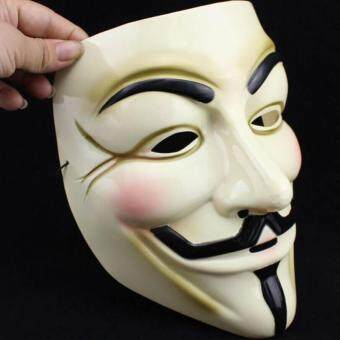 Harga Yellow V For Vendetta Mask Guy Fawkes Anonymous Halloween Masks Fancy Costume