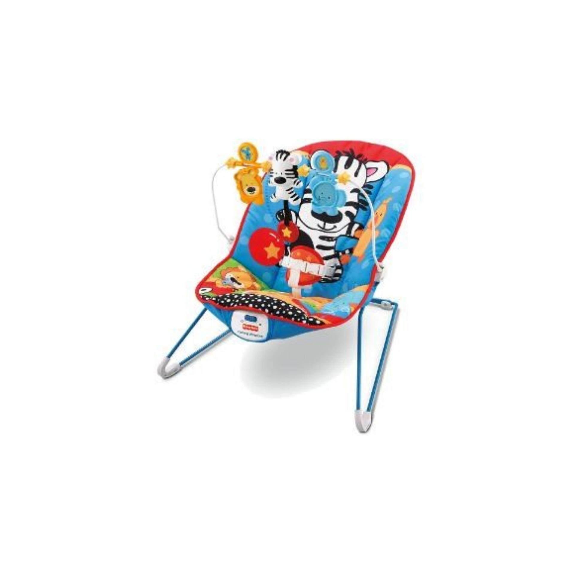 ZEBRA BOUNCER BABY - BLUE