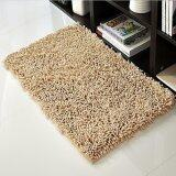 40*60cm Water Absorbent Non-slip Soft Microfiber Chenille Floor Rug Bath Mat Shower Carpet (Khaki)