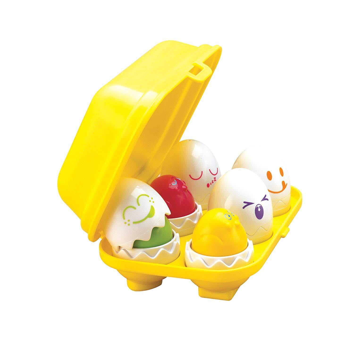 TOMY Toomies Hide & Squeak Eggs  Matching & Sorting Learning Toys  Kids Egg Squeak Toy  Ages 6 months & up