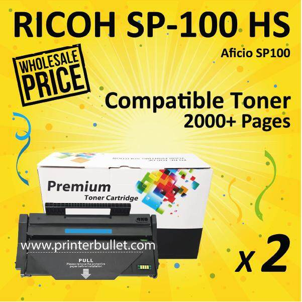 2 unit SP100 / SP112 Compatible Laser Toner Cartridge For SP100e / SP100su / SP100sfe / SP100sf / SP112 / SP112sf / SP112su Printer Toner