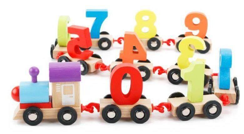 Wooden Digital Train Playset Toys for boys