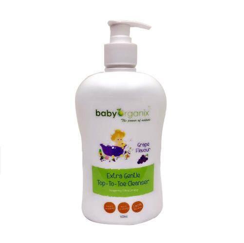 Baby Organix Extra Gentle Top To Toe Grape 400ml
