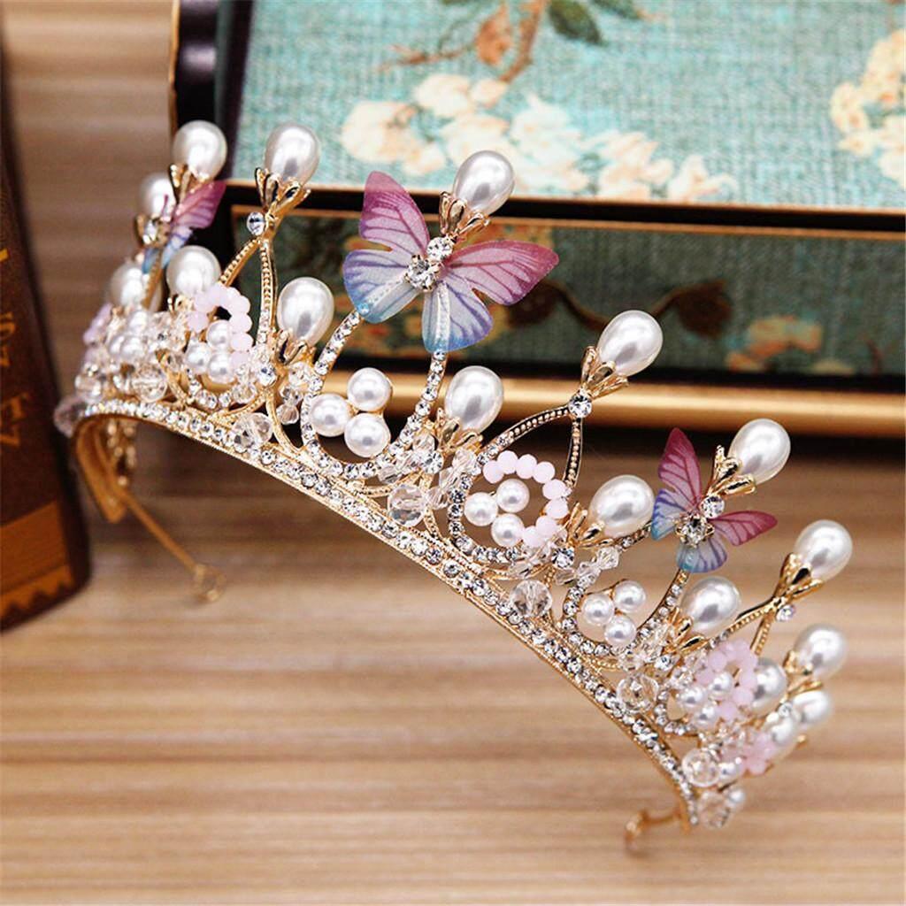 Pengantin Zirkon Mahkota Berlian Imitasi Bercahaya Pengantin Pesta Pengantin Mewah Perhiasan Tiara Hadiah