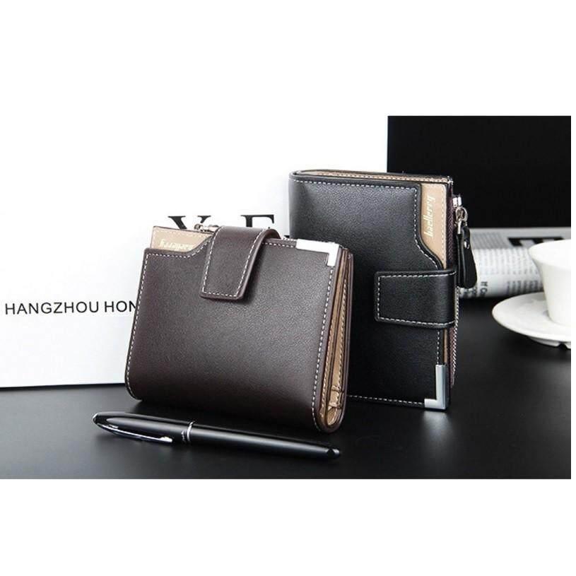 Luxury Wallet - Baellerry Men's Classical Leather Wallet - [BROWN / BLACK]